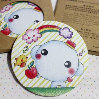 Ceramic water coaster _ (elephant apple)