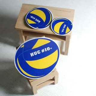 Dynamic blood volleyball sticker / waterproof stickers [custom models] school back number or name +