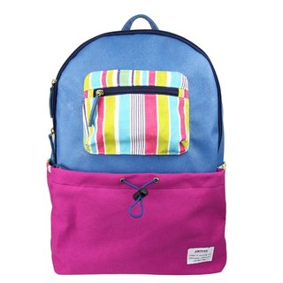 AMINAH- grape purple fight back backpack [am-0256]