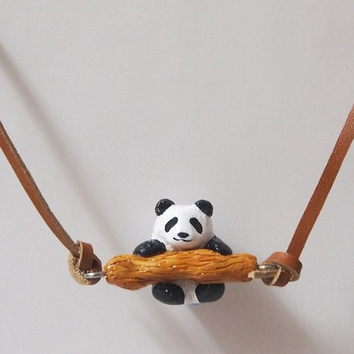 Panda handmade necklace