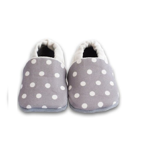 [European system] temperament little gray First baby shoes handmade soft bottom toddler shoes / indoor shoes
