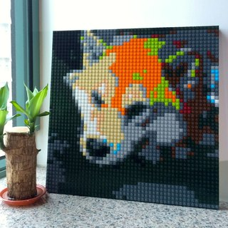 40cm*40cm Custom-made DIY lego-like brick mosaic