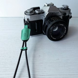 isni [camera wrist strap / leather rope ] lighe green color /simple & safety design