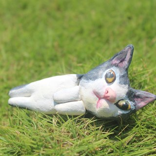 Star man reclining cat doll handmade custom