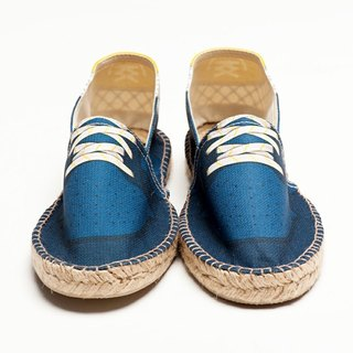 Slam Blue Grid Simulation fashion design printed shoes