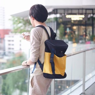 Backpack (Navy-Yellow)