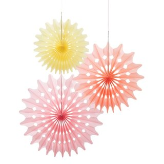 """Fun Summer Charm § paper fan"" Britain Talking Tables Party Supplies"