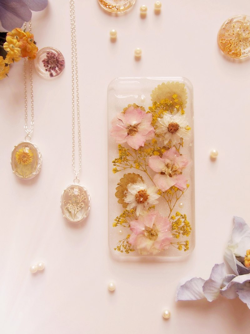 Tammy St. Ice series fresh pink yellow sweet natural temperament Yahua IPHONE5 / 5S phone shell protective shell