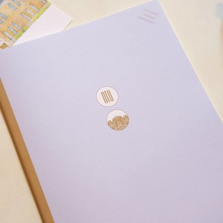 Taiwan University colorful notebook B5 total x Dongkang page - purple