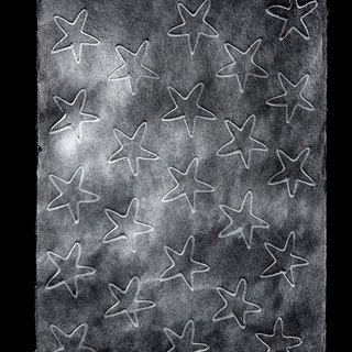 【Christmas】 Moon Paper Handmade Paper - Black Star