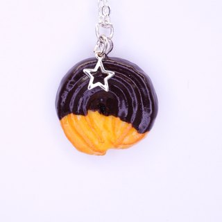 *Playful Design*  Vanilla Ring Cookie Necklace