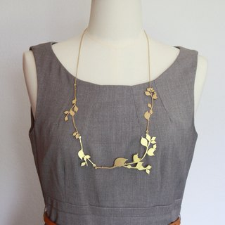 Golden Branches and leafs Necklace