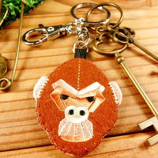 Embroidery key ring pen finger doll - Orangutan