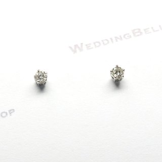 PT950 Solitaire a pair of Diamond Stud Earrings / Post style (Free Shipping)