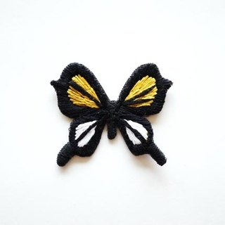 Yellow butterfly butterfly embroidery hand-embroidered brooch