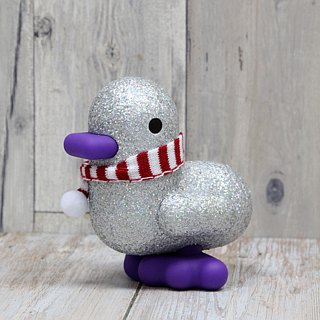 Belgium CANAR cute exclusive heart-shaped duckling large piggy bank / super healing (design version shiny silver)