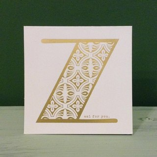 Bronzing letter card envelope sticker group -Z