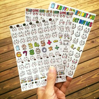 A6 PDA transparent decorative stickers combination package (three in)