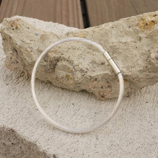 Handmade German Silver Acoustic Wire Bracelet Find Your Silver Lining // Silver Lining