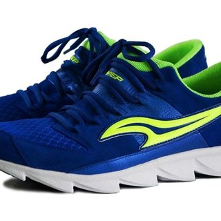 VPEP men's casual running shoes / blue with fluorescent green /