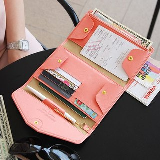 Plepic - Classic Journey Passport Wallet - Coral Powder, PPC92320