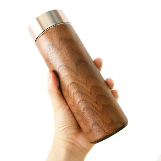 Wood into the third. Zhuo drink thermos. walnut  330ML