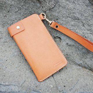 Shekinah handmade leather - swivel button mobile phone case I plus series 5.5 吋 portable