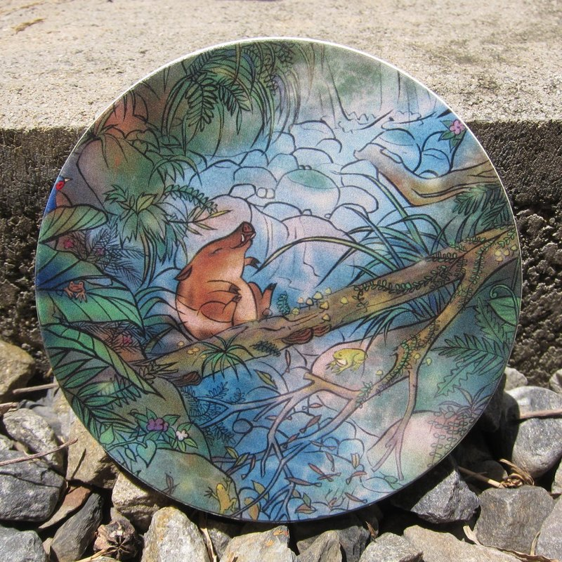 Jungle Find jungle to find / meticulous illustrator / ceramic water coaster - forest bath