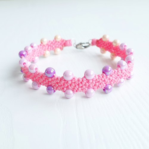 <CANDY> Candy Beads Wide tailored XS mini small dog / cat pet collar waterproof