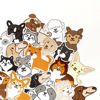 1212 play design fun everywhere stickers waterproof stickers - dog Daquan