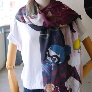 Flying Sofye 100% Silk Scarf