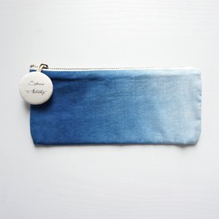 S.A x Ocean, Indigo dyed Handmade Natural Pattern Pencil Case