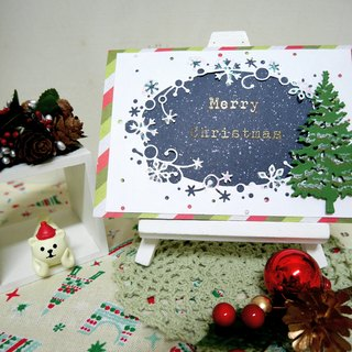 Christmas cards (greeting card) - handmade cards Christmas Forest