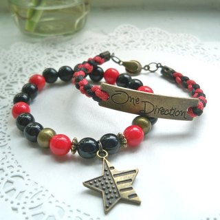 One direction bracelet - red + black - 2