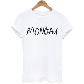MONDAY COFFEE DAY T-shirt -2 color coffee day Monday beard green paper art design fashionable fashion hipster characters