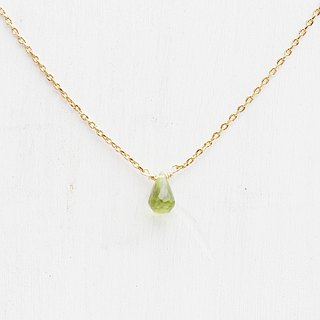 Birthstone - LUCKY / Peridot Peridot / Clavicle Necklace in August