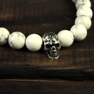 Skeleton Skulls 8MM Beaded Bracelet beaded bracelet 8MM