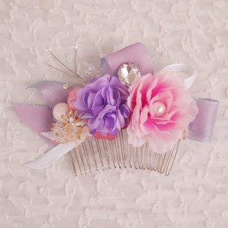 Flower Garden flower Western-style wedding bride flash diamond tiara comb hair accessories wedding gift