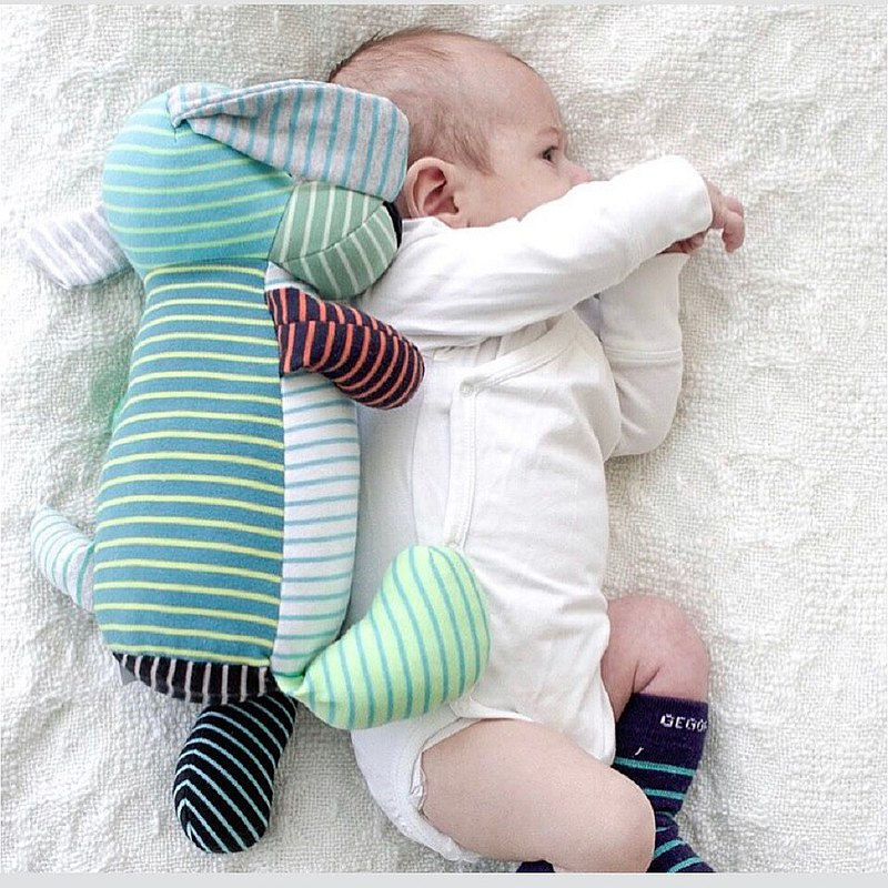 [Nordic children's clothing] Swedish organic cotton comfort toy dog ​​_ blue / mixed color