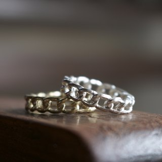 < ☞ Hand in Hand ☜ > brass - Chains Rings (0303)