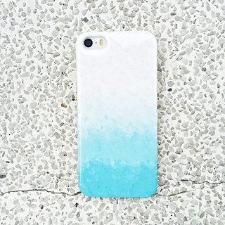 Gradient series ll Tiffany Blue ll hand-painted oil painting phone case