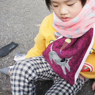 < little pink flannel scarves >!! GOGO Play / to the children warm winter / limited three /