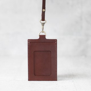 Dark brown leather ID card case