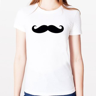 Mustache # 3 Girls T-shirt -2 color mustache mustache retro glasses fashionable father Wen Qing Art and Design