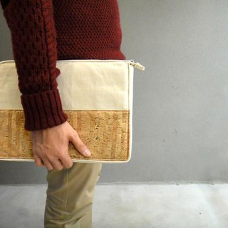 "13"" Cork Canvas Laptop Computer Sleeve"