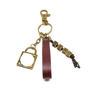 "【Valentine's Day Gift Key - Valentine's Key Ring) Valentine's Day Customized Customized Gemstone Leather Keychain) offers couples photo, pet photos, personal portrait photos, landscape photos, etc. Weaving Necklace ""Misi Bear"" Valenti"