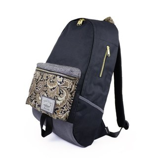 Matchwood Design Matchwood Infantry Waterproof Notebook Backpack Bags Backpacks Backpack 17 Keyboard Black gold Carved (Limited)
