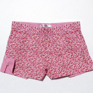 Red small floral cute little shorts