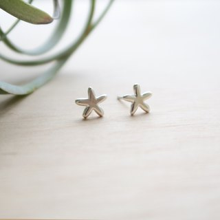 925 Silver-Lucky starfish Earrings-Sold as a Pair