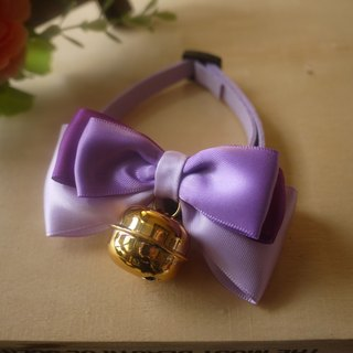 Safety x pet collar colorful purple / gold bells cats and dogs / Collar / tie / Jojo ♥ cherry pudding Cherry Pudding ♥